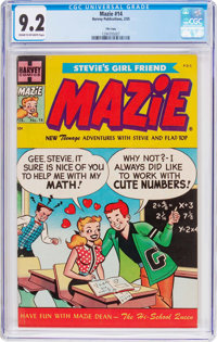 Mazie #14 File Copy (Harvey, 1955) CGC NM- 9.2 Cream to off-white pages