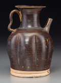 Asian:Chinese, A Chinese Brown Glazed Stoneware Water Ewer, Tang Dynasty, circa618-907 . 8-1/4 inches high (21.0 cm). ... (Total: 2 Items)