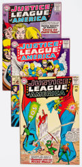 Silver Age (1956-1969):Superhero, Justice League of America #18, 21, and 29 Group (DC, 1963-64)Condition: Average VG+.... (Total: 4 Comic Books)
