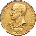Italy:Kingdom, Italy: Vittorio Emmanuele III gold Matte Proof 100 Lire 1925-R PR62NGC,...
