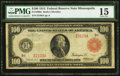 Large Size:Federal Reserve Notes, Fr. 1080a $100 1914 Red Seal Federal Reserve Note PMG Choice Fine 15.. ...