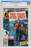 Modern Age (1980-Present):Miscellaneous, James Bond For Your Eyes Only #1 (Marvel, 1981) CGC NM/MT 9.8 Off-white to white pages....