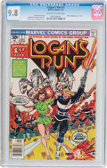 Bronze Age (1970-1979):Science Fiction, Logan's Run #1 (Marvel, 1977) CGC NM/MT 9.8 Off-white to white pages....