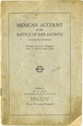Books:Pamphlets & Tracts, Mexican Account of the Battle of San Jacinto....