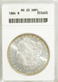 Morgan Dollars, 1884 $1 MS65 Deep Mirror Prooflike ANACS....