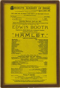 Political:Small Miscellaneous (pre-1896), PLAYBILL OF THE BROOKLYN ACADEMY OF MUSIC FEATURING EDWIN BOOTH, SILK, 1893....