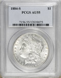 Morgan Dollars, 1884-S $1 AU55 PCGS....