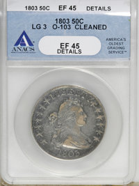 1803 50C Large 3--Cleaned--ANACS. XF45 Details....(PCGS# 6066)