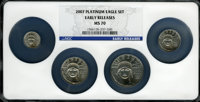Four-Piece 2007 Platinum Eagle Set MS70 NGC