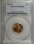 Lincoln Cents, 1935-S 1C MS66 Red PCGS....