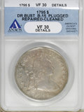 1795 $1 Draped Bust, Centered--Plugged, Repaired, Cleaned--ANACS. VF30 Details....(PCGS# 6858)