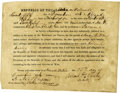 Autographs:Military Figures, Voluntary Enlistment of Kentuckian in the Army of the Texas Republic ...