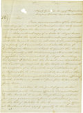 Autographs:Statesmen, William W.S. Bliss Manuscript Letter Signed...