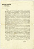 Political:Miscellaneous Political, Announcement of Elections in Coahuila and Texas Document Signed...