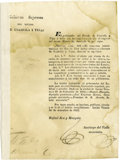 Political:Miscellaneous Political, Tax Increase on Coahuila and Texas Imports Document Signed...