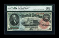 Large Size:Legal Tender Notes, Fr. 42 $2 1869 Legal Tender PMG Choice Uncirculated 64 EPQ....
