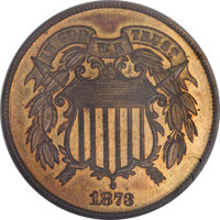 1873 2C Closed 3 PR66 Red and Brown NGC....(PCGS# 3652)