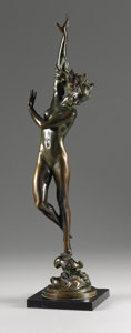 Fine Art - Sculpture, American, HARRIET WHITNEY FRISHMUTH (American 1880-1980). Crest of theWave, 1925. Bronze with brown patina. 21 inches (53.3 cm) h...