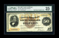 Large Size:Gold Certificates, Fr. 1192 $50 1882 Gold Certificate PMG Very Fine 25....