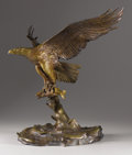 Texas, CLARK BRONSON (b. 1939). Majestic Fisherman, 1982. Bronze.20-1/2 x 22 x 15-1/2 inches (52.1 x 55.9 x 39.4 cm). Signed, ...