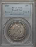 Early Half Dollars: , 1807 50C Draped Bust VF30 PCGS. PCGS Population: (156/695). NGCCensus: (76/473). Mintage 301,076. ...