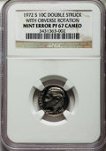Errors, 1972-S 10C Roosevelt Dime -- Double struck with Obverse Rotation -- PR67 Cameo NGC....