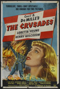 """Movie Posters:Adventure, The Crusades (Paramount, R-1948). One Sheet (27"""" X 41"""") Style A.Historical Adventure. Starring Loretta Young, Henry Wilcoxo..."""
