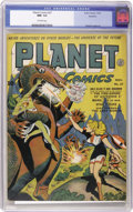 Golden Age (1938-1955):Science Fiction, Planet Comics #27 Rockford pedigree (Fiction House, 1943) CGC NM-9.2 Off-white pages. Pedigree copy comes with a certificat...