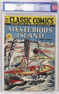 Classic Comics #34 Mysterious Island - Original Edition (Gilberton, 1947) CGC NM 9.4 Off-white to white pages