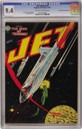 "Golden Age (1938-1955):Science Fiction, Jet Powers #4 Mile High pedigree (Magazine Enterprises, 1951) CGCNM 9.4 Off-white to white pages. Features ""The Rain of Sle..."