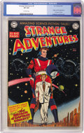 Golden Age (1938-1955):Science Fiction, Strange Adventures #9 (DC, 1951) CGC VF 8.0 Off-white pages. DCjumps into the sci-fi genre in a big way with this issue, wh...