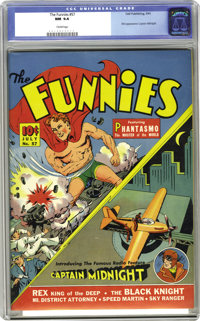 Funnies #57 (Dell, 1941) CGC NM 9.4 Cream pages. It's the first comic book appearance of Captain Midnight-- yes, Dell ha...