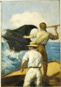Original Illustration Art:Pulp, Pulp-like, Digests and Paperback Art, Howard Hastings - Sea Hunt Pulp Illustration Original Art (circa1930).. ...