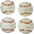 Autographs:Baseballs, Baseball Stars Single Signed Baseballs Lot of 4. Each of the fourofficial orbs we make available here sports a tremendous ...