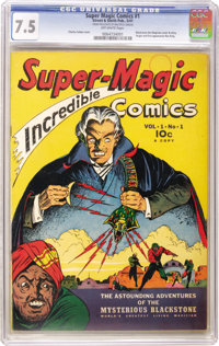 Super Magic Comics #1 (Street & Smith, 1941) CGC VF- 7.5 Off-white pages. This copy of the comic book featuring the...