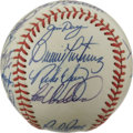 Autographs:Baseballs, 1985 Baltimore Orioles Team Signed Baseball. This Official AmericanLeague (Brown) baseball has been adorned with the signa...