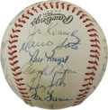 Autographs:Baseballs, 1980 Cincinnati Reds Team Signed Baseball. Much star power isevident here with the team-signed orb we offer from the 1980 ...
