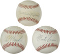 Autographs:Baseballs, Baseball Hall of Famers Single Signed Baseballs Lot of 3. Yetanother threesome of Hall of Fame singles has been made avail...