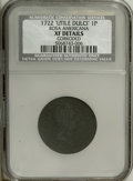 1722 PENNY Rosa Americana Penny, UTILE--Corroded--NCS. XF Details. NGC Census: (0/0). PCGS Population (2/31). (#113)...(...