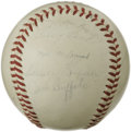 Autographs:Baseballs, 1961 San Francisco Giants Team Signed Baseball. The 1961 SanFrancisco Giants was a star-laden squad, with many who would g...