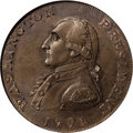 Colonials: , 1791 1C Washington Large Eagle Cent MS64 Brown NGC. Baker-15, R.2. A crisply struck tan-brown example of this important Was...