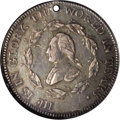 Colonials: , 1799 MEDAL Washington Funeral Urn Medal AU50 NGC. Baker-166A,silver, R.6. Dies 1-B. Holed as issued, since the medal was i...
