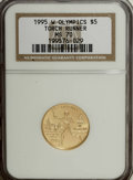 1995-W G$5 Olympic/Torch Runner Gold Five Dollar MS70 NGC....(PCGS# 9732)