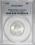 Washington Quarters, 1935 25C MS67 PCGS....