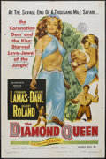 "Movie Posters:Adventure, The Diamond Queen (Warner Brothers, 1953). One Sheet (27"" X 41"").Adventure...."