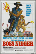 "Movie Posters:Blaxploitation, Boss Nigger (Dimension, 1975). One Sheet (27"" X 41"").Blaxploitation.. ..."