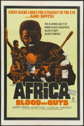 """Movie Posters:Documentary, Africa Blood and Guts (Cinemation Industries, 1966). One Sheet (27"""" X 41""""). Documentary. ..."""