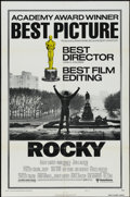 "Movie Posters:Sports, Rocky (United Artists, 1977). Academy Awards One Sheet (27"" X 41"") Style B. Sports. ..."