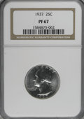 Proof Washington Quarters, 1937 25C PR67 NGC....