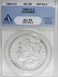 Morgan Dollars, 1895-O $1 --Cleaned--ANACS. AU55 Details....
